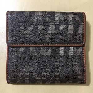 Michael Kors Leather Logo Print Wallet